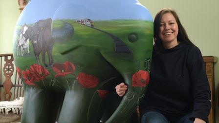 Laura Beardsell-Moore with her Elmer Poppy Picture: SARAH LUCY BROWN