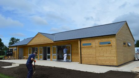The new pavilion at St Joseph'�s College, Ipswich. Picture LINDY RODWELL