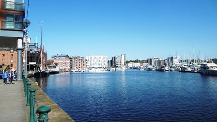 A student claims she was followed along Ipswich Waterfront Picture: DAVID VINCENT