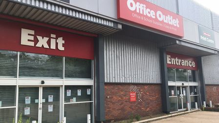 Office Outlet in Ipswich has shut down. Photo: Archant.