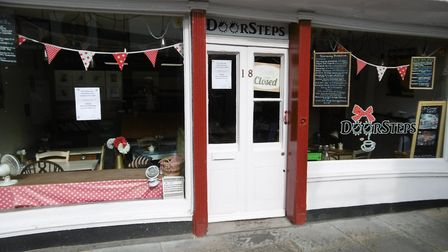 Popular Doorsteps cafe in St Nicholas Street, Ipswich has closed and is on the market. Picture: DAV
