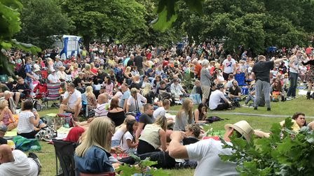 Thousands of music fans in front of the BBC Radio Suffolk stage at Ipswich Music Day 2019. Picture: