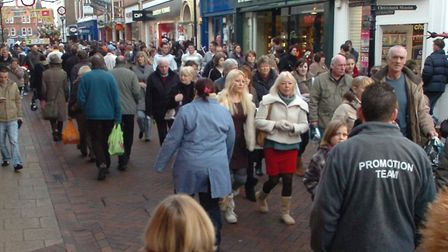 Shoppers in Ipswich town centre. Photo: Archant.