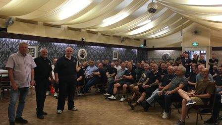 GMB union members from Anglian Windows gather in Norwich for a ballot count over proposed changes to