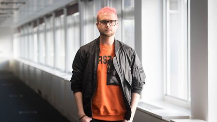 Whistleblower Christopher Wylie at a press conference in central London, as information provided by