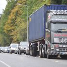 Orwell Ahead hopes a northern bypass would ease this kind of congestion in Colchester Road, Ipswich.