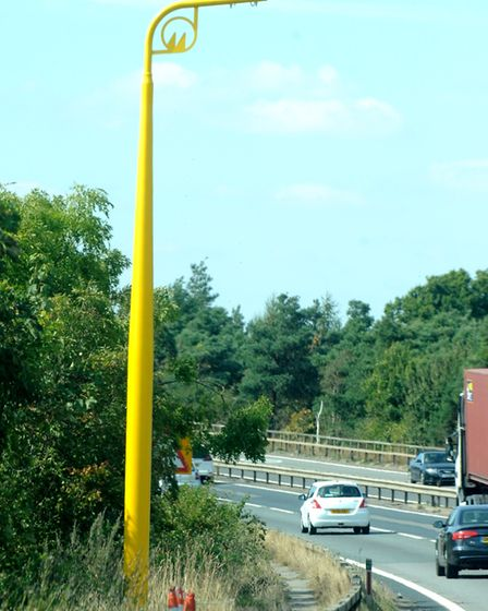 Average speed cameras on the A14 by the Orwell Bridge Picture: SIMON PARKER