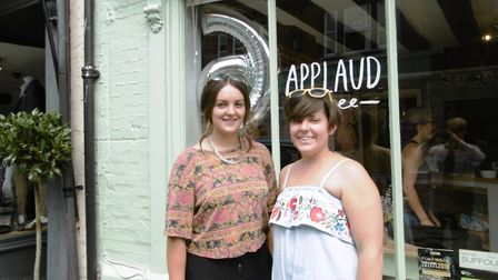 Applaud Cafe in St Peter's Street celebrated six years with music in the garden today. Sisters Beth
