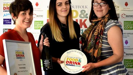 Food and Drink Awards 2016 Best Cafe/ Tea Room - Hannah Huntly and Beth Cook from Applaud Coffee in