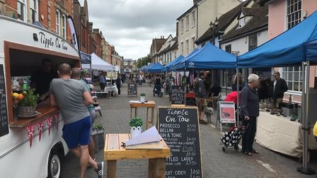 The summer street market in The Saints, Ipswich on Sunday June 16 Picture: CATHY FROST
