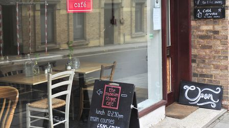 The Museum Street Cafe specialising in vegetarian and vegan food at its old location in Museum Stree