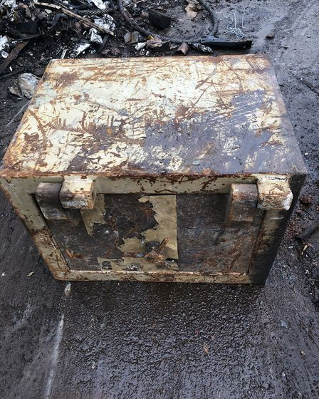 Sackers scrap metal workers discovered a stash of cash in one of four dumped safes which arrived at
