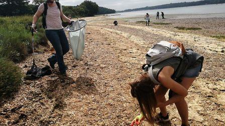 Suffolk County Council's vegan network did two cleans across the county. Picture: JACK BARBER