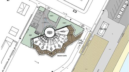 The design for the landmark Felixstowe seafront restaurant Picture; EAST SUFFOLK COUNCIL