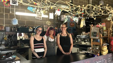 Loni Fair, Sarah Shaw and Mandy Ginn from the newly merged 'The Hub Kitchen'. Picture: ARCHANT