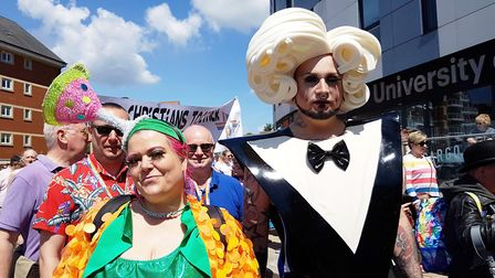 Thousands gathered for Suffolk Pride 2019 on the Ipswich Waterfront Picture: RACHEL EDGE
