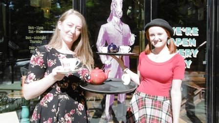 Cosy Club Ipswich assistant general manager Josie Ambrose and Sarah Stephenson. Special get-together