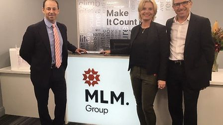 Sweco has taken over Ipswich-based MLM. Sweco' s President and CEO ?sa Bergman visit to MLM. Left to