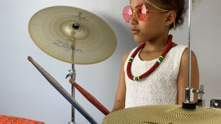 Nine-year-old Nandi often jams in Ipswich and has previously appeared in a John Lewis advert Picture