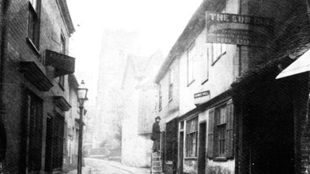 View of The Sun Inn in St Stephen's Lane, Ipswich Picture: DAVID KINDRED'S ARCHIVE