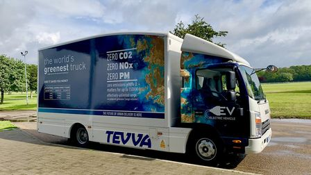 A TEVVA electric truck Picture: EMMA CLIFTON
