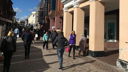 Shoppers were approached in Ipswich town centre Picture: PAUL GEATER