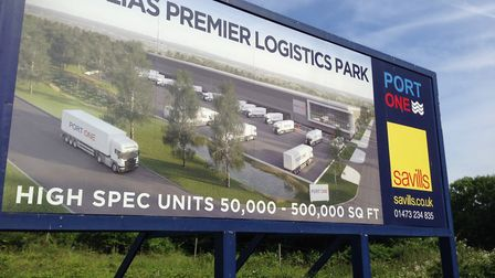 Port One is a commercial business park at Great Blakenham, 60 acres of development land opposite the
