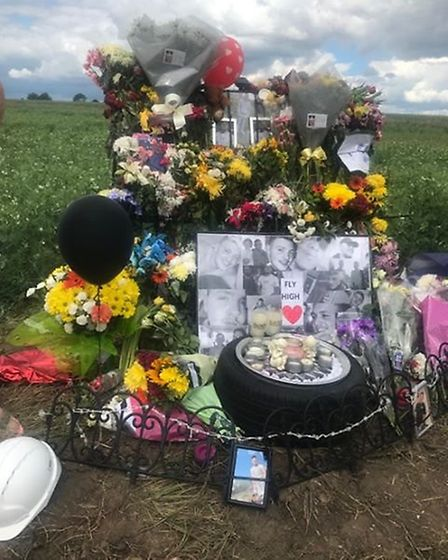 Friends and family of Keaton Whelan gathered in Bourne Park to remember the 19-year-old Picture: THE
