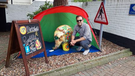 Karl Forsdike on the Elmer's Big Parade - Suffolk trail. Picture: KARL FORSDIKE