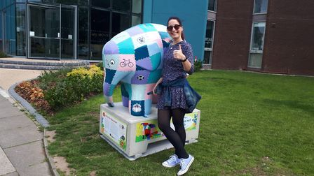 Emily Tiplady on the Elmer's Big Parade - Suffolk trail. Picture: KARL FORSDIKE