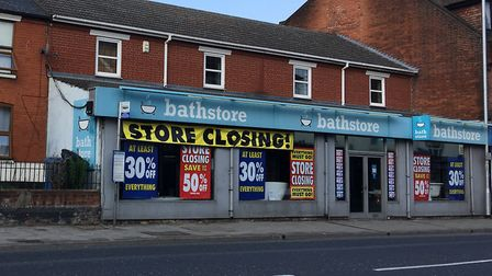 Ipswich's Bathstore in Norwich Road is set to close down after the firm entered administration. Phot