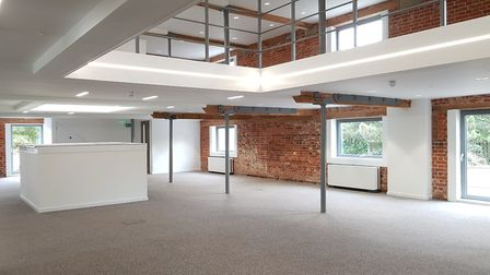 The Maltings in Ipswich is now modern working space, but original features including mellow brick wa