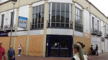 The former Poundworld store in Ipswich town centre, which is now boarded up Picture: JUDY RIMMER