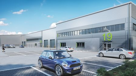 A first look at plans for Ipswich'�s new Cranes Business Centre. Photo: Chancerygate.