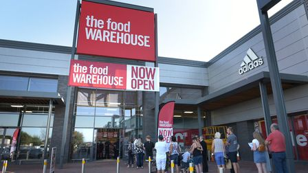 Customers were eager to take a look at the Food Warehouse. Picture: SARAH LUCY BROWN