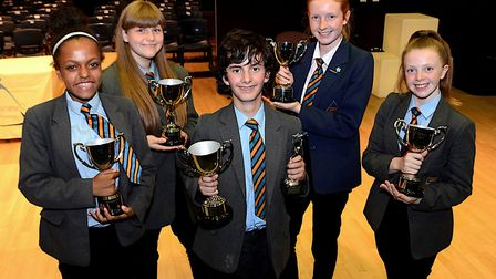 Chantry Academy students were given awards at the school'�s celebration evening. Picture: GORDON WHI