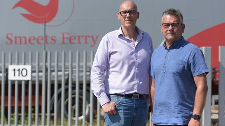 Stewart Gayfer and Brian Hosford from Smeets Ferry have had over 250 thousand pounds worth of good