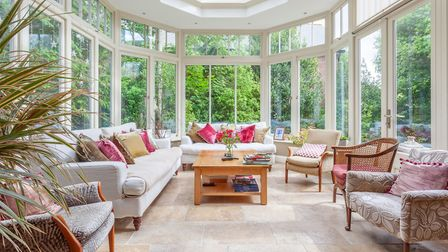 The conservatory at Highfield Lodge, Henley Road, Ipswich. Picture: JIM TANFIELD, INSCOPE IMAGES