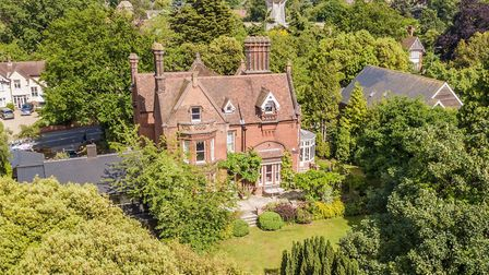 A photo taken by drone of Highfield Lodge in Henley Road, Ipswich Picture: JIM TANFIELD, INSCOPE IMA