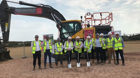 An official ceremony was held today to launch construction of Headlam's new regional distribution ce