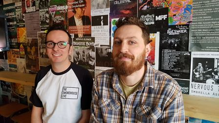 Event organisers Joe Bailey (left) and Marcus Neal said the eclectic range of acts would represent I