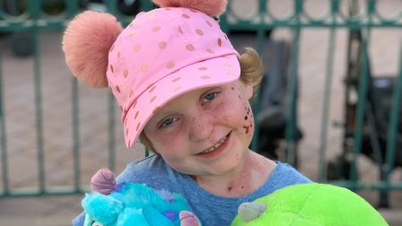 Arabella Scannell visited Disneyland with her family. Picture: ELLIE SCANNELL