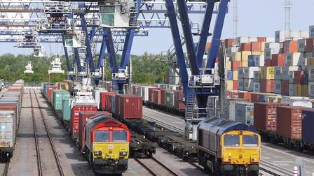 The Port of Felixstowe is aiming to double its rail cargo Picture: COURTESY OF THE PORT OF FELIXSTOW