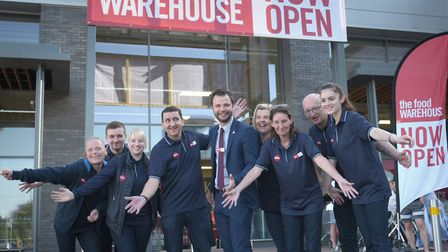 The opening day at the The Food Warehouse at Euro Retail Park in east Ipswich. Picture: SARAH LUCY