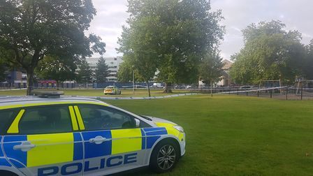 Suffolk police are yet to confirm the nature of the incident in Alderman Park in Ipswich opposite Po
