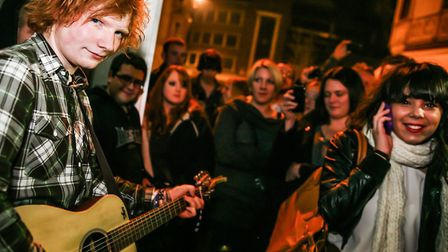 Ed Sheeran during his gig at The Swan in 2010 Picture: Jen O'Neill