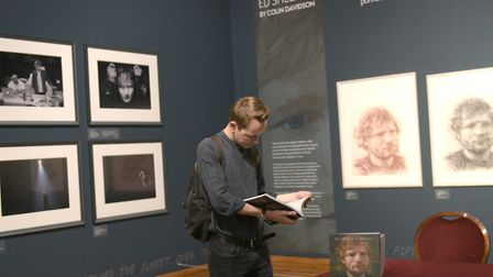 Launch of the Ed Sheeran, Made in Suffolk exhibition at Christchurch Mansion Picture: SARAH LUCY B