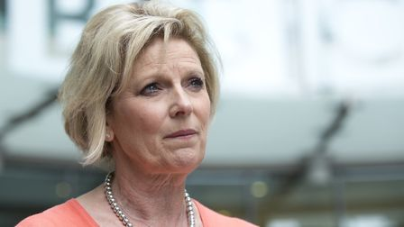 Anna Soubry, Conservative MP for Broxtowe, leaves BBC Broadcasting House in London after appearing o