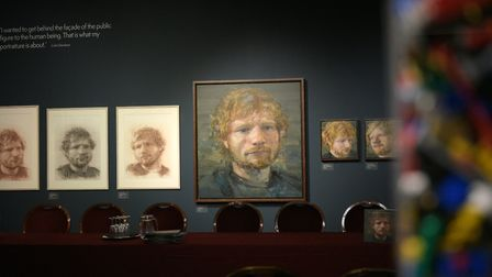 Ed Sheeran has encouraged his millions of Instagram followers to head to the Made in Suffolk exhibit