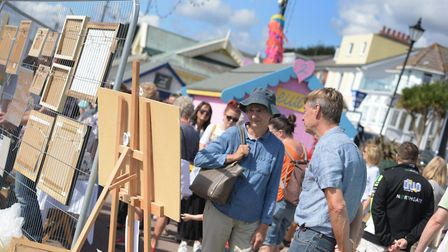 Visitors could meet with the artists who created the pieces Picture: SARAH LUCY BROWN
